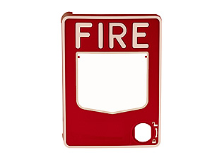 Hot Stamped Fire Alarm Cover